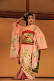 Maiko performing Kyomai Dance Royalty Free Stock Photography