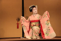 Maiko performing Kyomai Dance Royalty Free Stock Photo