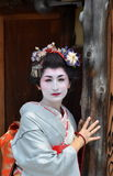 Maiko's portrait, close up, Kyoto, Japan Stock Photography