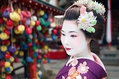 Maiko San in Kyoto spirit. Japanese Geisha in Kyoto Asia Royalty Free Stock Photos
