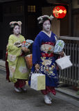 Maiko walk to work Royalty Free Stock Photo