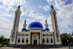 Maikop, Russia - Circa August 2017: large Muslim temple. one of the main sights and symbols of Maykop Stock Images