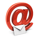 Mail. Three dimension sign of e-mail Stock Photography