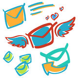 Mail. Several vector illustrations of the mail Royalty Free Stock Photos
