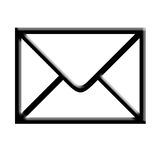 Mail. A sealed envelope icon Stock Photo
