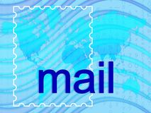 Mail. With map and matrix in background royalty free stock images
