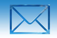 Mail. A symbol of mail on a background Royalty Free Stock Photos