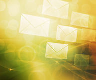 Mail Abstract Background. Orange Mail Abstract Background Image Royalty Free Stock Images