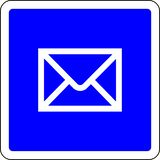 Mail allowed sign. Mail allowed blue sign stock illustration