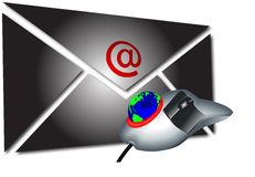 Mail And Mouse1 Royalty Free Stock Photos