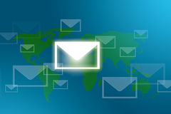 Mail around the world Royalty Free Stock Image