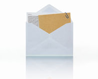 Mail with attachment Royalty Free Stock Image