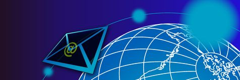 Mail banner1 Stock Image