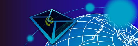 Mail banner2 Royalty Free Stock Image