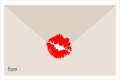 The mail be printed lip print Stock Images