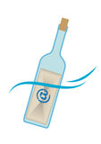 Mail in a bottle royalty free illustration