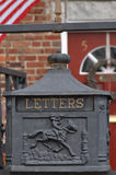Mail box. Old metal american mail box stock photo