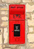 Mail Box. A disused letter box in England royalty free stock photos