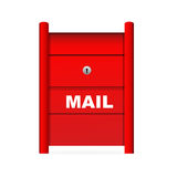 Mail box. Illustration of mail box on white background Stock Photography