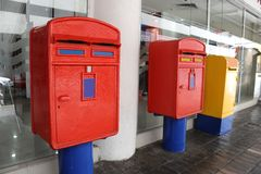 Mail box. Red mail box in malaysia Royalty Free Stock Images