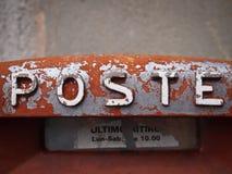 Mail box. Italian old and rusty mail box Stock Photos
