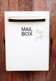 Mail box. On wood background Stock Photography