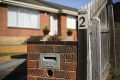 Mail Box. At a domestic home Royalty Free Stock Image