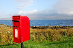 Mail box. Traditional british rural collection postal box Stock Image