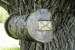 Mail box. Wooden Royalty Free Stock Photography