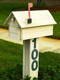 Mail box. Photo of a wooden mailbox Stock Photos