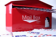 Mail box. Or full email Royalty Free Stock Images