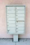 Mail box. Group of community mail boxes Stock Photography