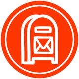 mail box circular icon vector illustration