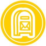 mail box circular icon royalty free illustration