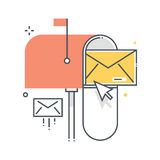 Mail box concept illustration Stock Photo