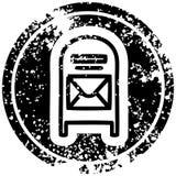 mail box distressed icon stock illustration