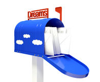 Mail box with dream letters Royalty Free Stock Image