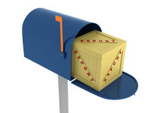 Mail Box with Export Crates. Royalty Free Stock Image