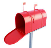 Mail box at the front on a white background. 3d rendering Stock Images