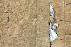 Mail box of God in western wall Stock Photos