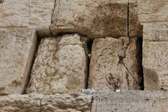 Mail box of God in western wall Royalty Free Stock Photo