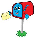 Mail box with letter royalty free illustration