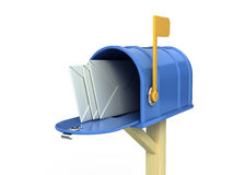 Mail box with letters stock illustration