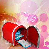 Mail box with letters Royalty Free Stock Image