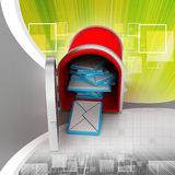 Mail box with letters Royalty Free Stock Images