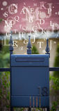 Mail box with letters comming out Royalty Free Stock Photos