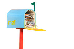 Mail box. Overflowing with mail Stock Photography