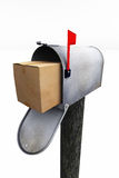 Mail Box and Package Stock Photo