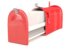 Mail box red Stock Images