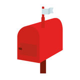 Mail box red isolated icon Stock Photography